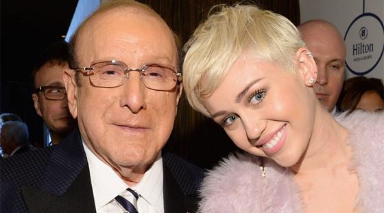 Clive Davis + Miley Cyrus - Pre-Grammy Gala
