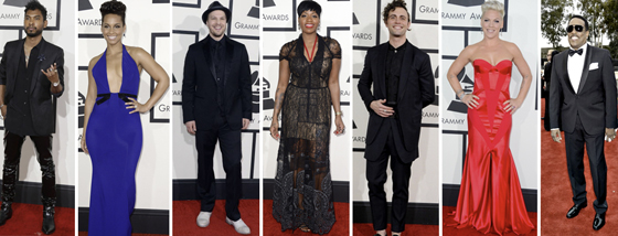 RCA Artist Arrivals to the GRAMMY Red Carpet