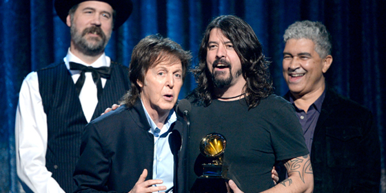 GRAMMY Winners Dave Grohl, Paul McCartney, Krist Novoselic, Pat Smear