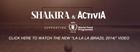 SHAKIRA - WATCH THE LA LA LA (BRAZIL 2014) VIDEO