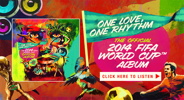 Stream The Official 2014 FIFA World Cup Album on Spotify